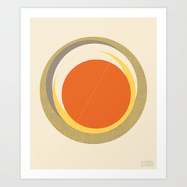 Spheres (Creme) by Matthew Korbel-Bowers for Covell & Company Art Print