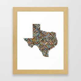 Map of Texas Framed Art Print