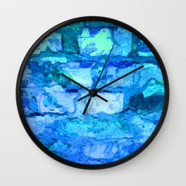 Barbecue Blue Wall Clock