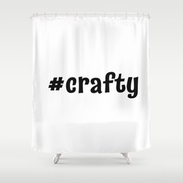 #crafty Shower Curtain
