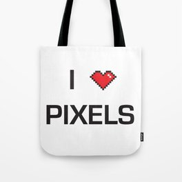 I heart Pixels Tote Bag