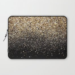 Black & Gold Sparkle Laptop Sleeve