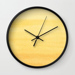 Yellow Watercolor Ombre Pattern Wall Clock