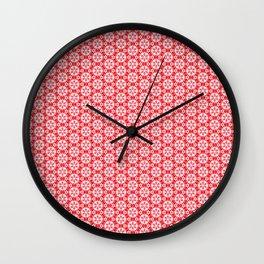 Christmas snowflakes pattern 2 Wall Clock