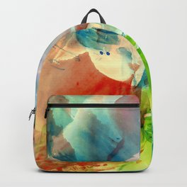 Abstract colorful watercolor background Backpack