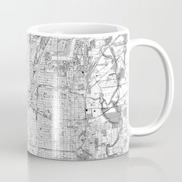 Vintage Map of San Antonio Texas (1953) BW Coffee Mug