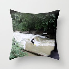 Perpetual Surfer Throw Pillow