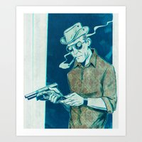 "hunter s thompson Art Prints featuring Hunter S. Thompson ""Gonzo"" by Ledo Design"