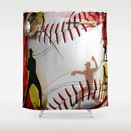 Charming Baseball Shower Curtain