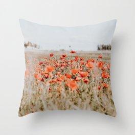 flower field Throw Pillow