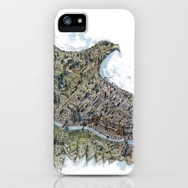 Gold eagle and Astana iPhone Case