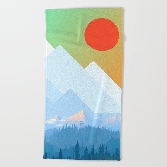 Mountains XVII Beach Towel