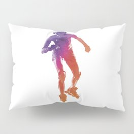 Woman in roller skates 01 in watercolor Pillow Sham