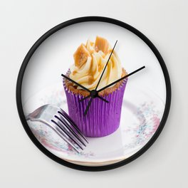 Banoffee Cupcake Wall Clock