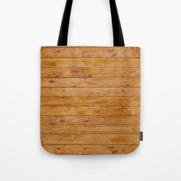 Barn Wall Made of Old Wooden Planks - Brown Tote Bag