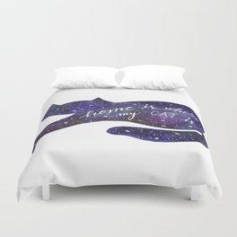 Watercolor Galaxy Cat - purple Duvet Cover
