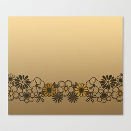 Kitschy Flower Medley Sepia Canvas Print