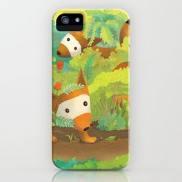 Babies in Bushes iPhone Case