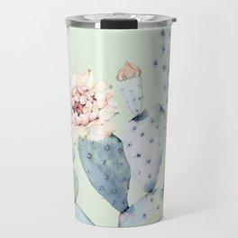 Prettiest Mint Cactus Rose Travel Mug