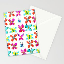 Rainbow of Butterflies Stationery Cards