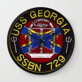 USS GEORGIA (SSBN-729) PATCH Wall Clock