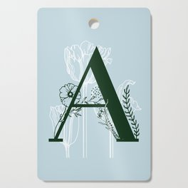 A - Floral Letter Cutting Board