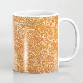 Sheffield, England, Gold, Blue, City, Map Coffee Mug