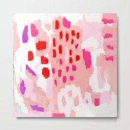 Wesli - minimalist pink purple white trendy millennial pink home decor canvas art Metal Print