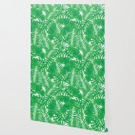 Tropical leaves pattern Wallpaper