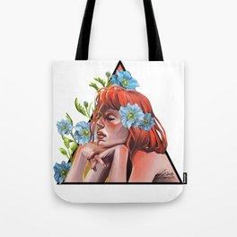 Blue Poppy Tote Bag