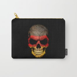 Dark Skull with Flag of Germany Carry-All Pouch