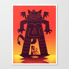 Pizza Demon Canvas Print