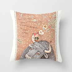 The year of OX  Throw Pillow