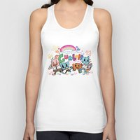 gumball Tank Tops featuring GUMBALL by Suyeda