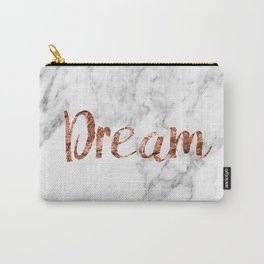 Rose gold marble dream Carry-All Pouch
