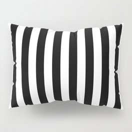 Abstract Black and White Vertical Stripe Lines 12 Pillow Sham