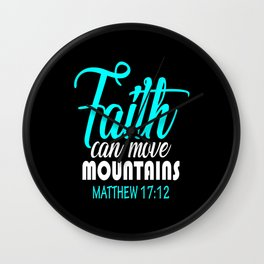 faith bible christ Wall Clock