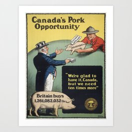 Vintage poster - Canada's Pork Opportunity Art Print