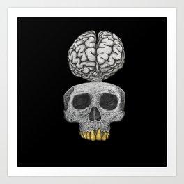 Losing my mind (black background) Art Print
