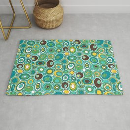 Mid Century Geometric - Ovals and Circles Rug