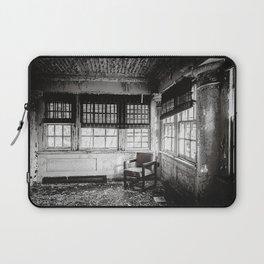 Abandoned School Lounge - Black & White Laptop Sleeve