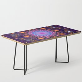 """Guardian"" Mandala painting Coffee Table"