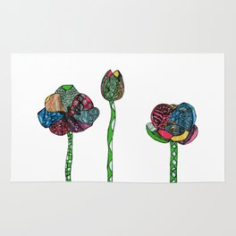 Graphic tulips Rug