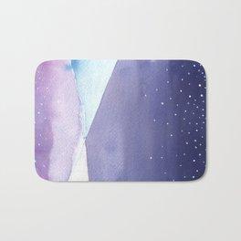 Snowy Landscape Abstract Bath Mat
