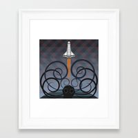 gravity Framed Art Prints featuring Gravity by milanova