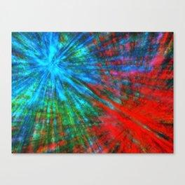 Abstract Big Bangs 001 Canvas Print