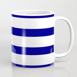Blue Navy and White Stripes Coffee Mug