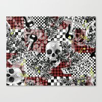 50s Canvas Prints featuring 50s rock n roll by Mickaela Correia