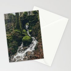 Stone bridge over waterfall near Stockghyll Force. Cumbria, UK. Stationery Cards