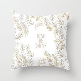 Graphic Art RISE & SHINE | gold Throw Pillow